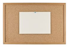 Message board with paper Royalty Free Stock Photography