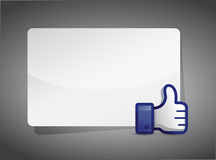 Message board thumb up Royalty Free Stock Photo