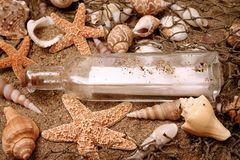 Message in a bottle 2 stock image