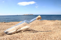 Message in the bottle Stock Image