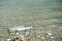 Message in a bottle Royalty Free Stock Images