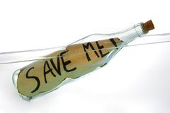 Message in the bottle Royalty Free Stock Photos