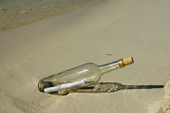 Message In Bottle Royalty Free Stock Photos