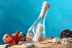 The message in a bottle Royalty Free Stock Images