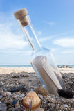 Message in a Bottle Stock Image