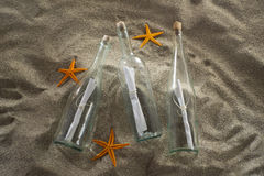 Message in a bottle at the beach Stock Photography