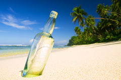 Message Bottle Beach Letter Information Concept Stock Photography