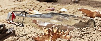 Message In A Bottle, Bottle, Post Royalty Free Stock Photography