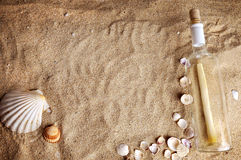 Message in bottle Royalty Free Stock Image