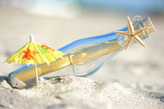 Message in a bottle (composition) Stock Image