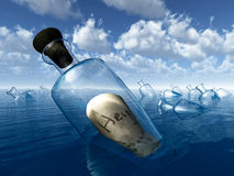 Message in a bottle Help Stock Images