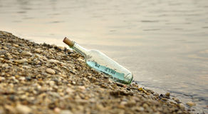 Message in the Bottle Royalty Free Stock Images
