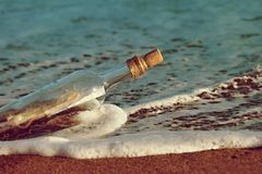 Message in bottle stock image