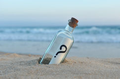 Message in a bottle, question Stock Image