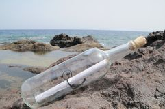 Message in the Bottle Stock Images