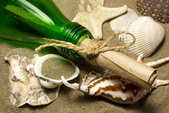 Message in a bottle. Stock Images