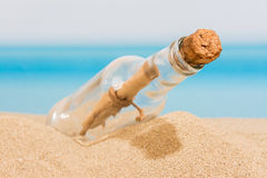 Message in bottle Stock Photos