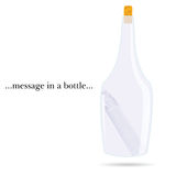 Message in a bottle vector Royalty Free Stock Photos