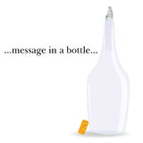 Message in a bottle vector illustration Royalty Free Stock Photography