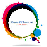 Message box Thailand style Royalty Free Stock Images