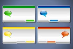 Message Boxes for your applications royalty free illustration