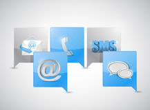 Message bubble communication concept Stock Image