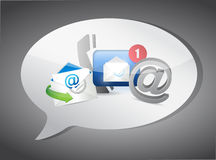 Message bubble Contact us concept illustration Royalty Free Stock Image