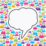 Message bubble with in group of people Stock Photos