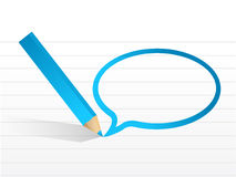 Message bubble and pencil illustration design Royalty Free Stock Image