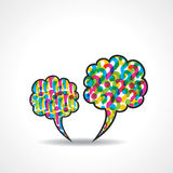 Message bubble with question and  exclamatory mark Royalty Free Stock Images