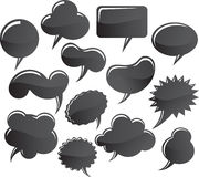 Message bubbles. Graphic set Stock Photo