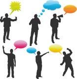 Message Bubbles. 6 Message Bubbles Vector Illustrations Stock Photos