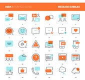 Message Bubbles Icons Royalty Free Stock Photography