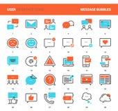 Message Bubbles Icons Stock Photo