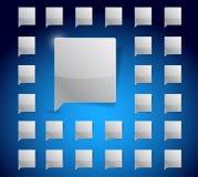Message bubbles set illustration design graphic Stock Photo