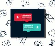 Message and business speech modern concept Stock Photos