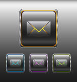 Message button with gray frame Royalty Free Stock Photography