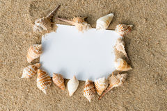 Message card on beach Stock Photography