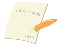 Message card illustration Royalty Free Stock Image