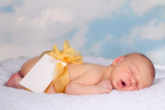 Message card from a newborn baby Royalty Free Stock Photo