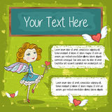Message card vector Royalty Free Stock Photography