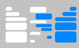 Message chat bubbles vector icons for messenger. Template for message chat. Vector illustration. stock illustration