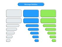 Message chat bubbles vector icons for messenger. Template for message chat. Vector illustration stock illustration
