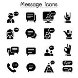 Message, Chat, discussion icon set. Vector illustration graphic design Stock Photography