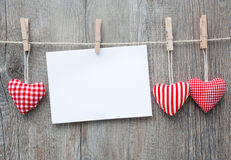 Message in the clothesline Stock Photos