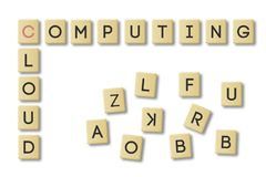 Scrabble, cloud computing. vector illustration