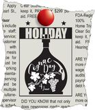 Message Cognac Day. Message about the festival in the newspaper`s Day Cognac royalty free illustration