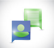 Message communication concept Stock Images