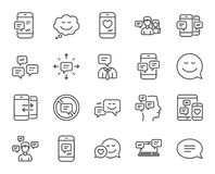 Message and Communication icons. Group chat. Stock Photography