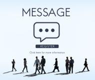 Message Communication Online Conversation Concept Stock Images